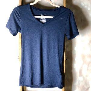Nike Navy Blue Dri Fit Athletic T-Shirt
